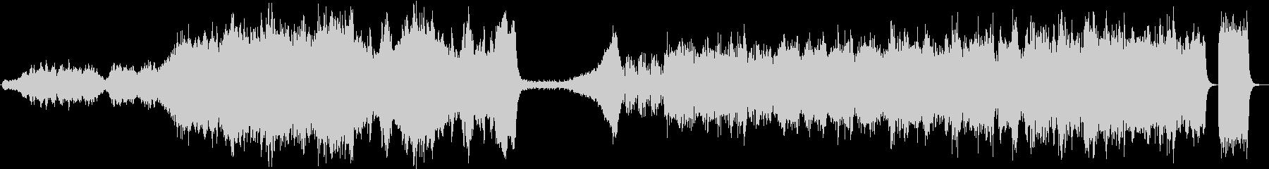 壮大なエピックミュージックの未再生の波形