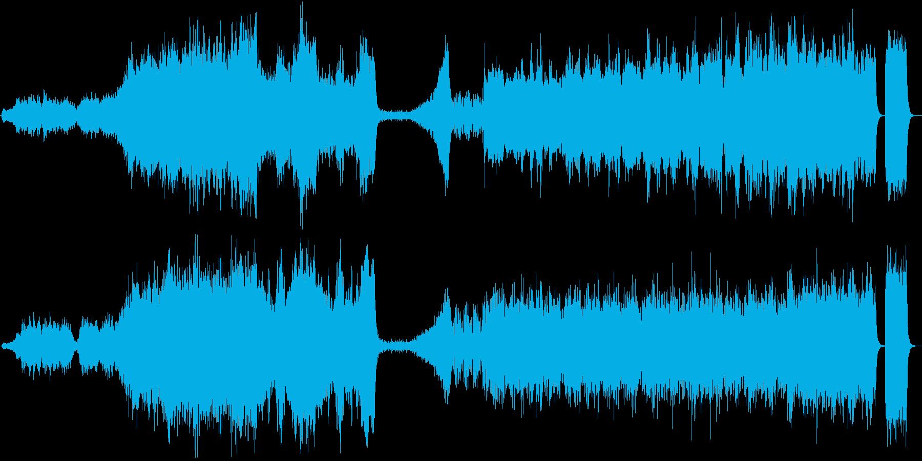 壮大なエピックミュージックの再生済みの波形