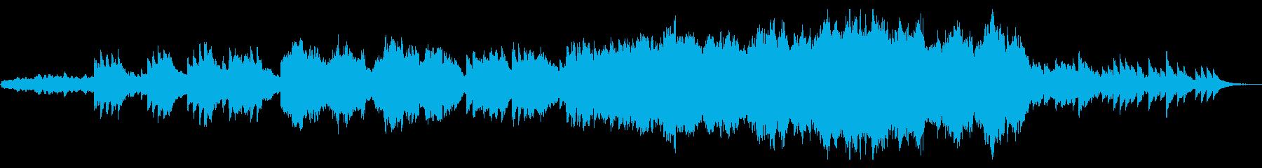 エンディング風感動的なオーケストラの再生済みの波形