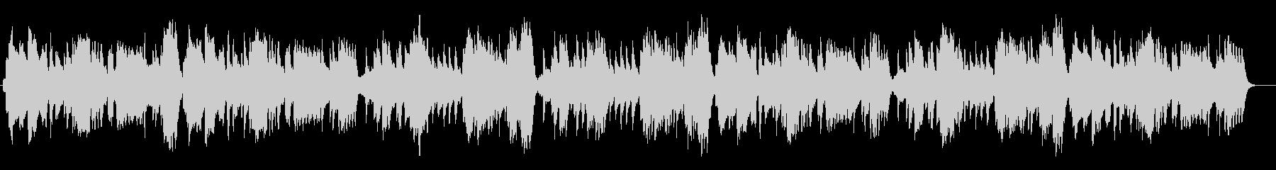生演奏リコーダーしっとりとした朝のBGMの未再生の波形