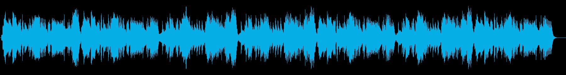 生演奏リコーダーしっとりとした朝のBGMの再生済みの波形