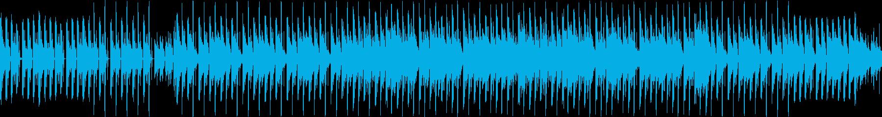 マリンバとベースのテクノ風のループ曲の再生済みの波形