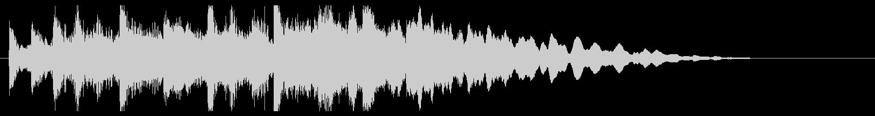 キラキラとポップなベルのイントロジングルの未再生の波形