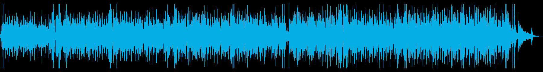 カフェBGM・疾走感のあるジャズギターの再生済みの波形