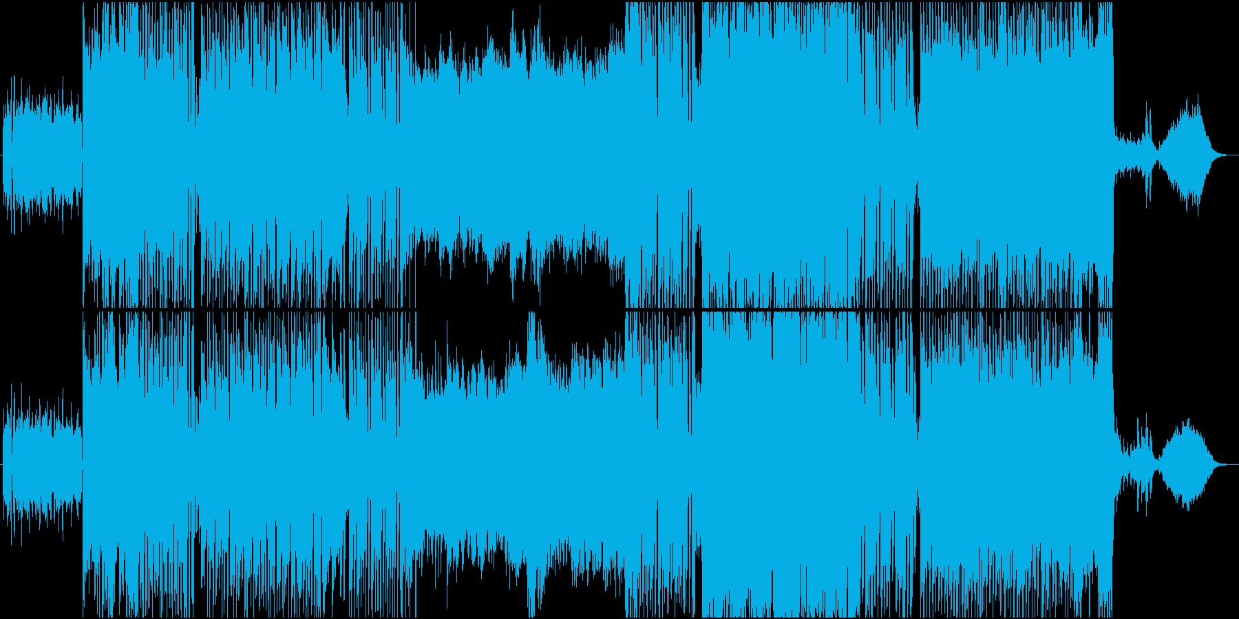 魔女感溢れるハロウィン曲の再生済みの波形