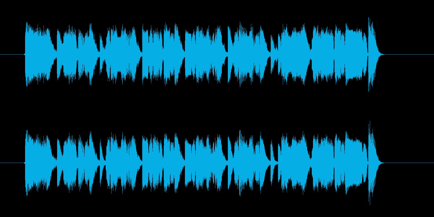 スピーディーでアップテンポなジングルの再生済みの波形