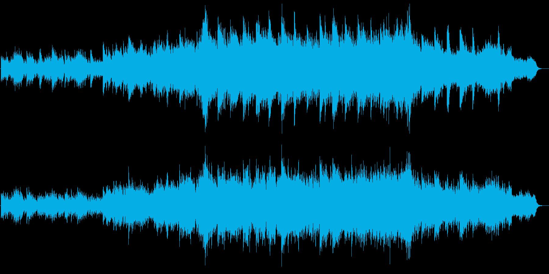 段々盛り上がる壮大なピアノ&ストリングスの再生済みの波形