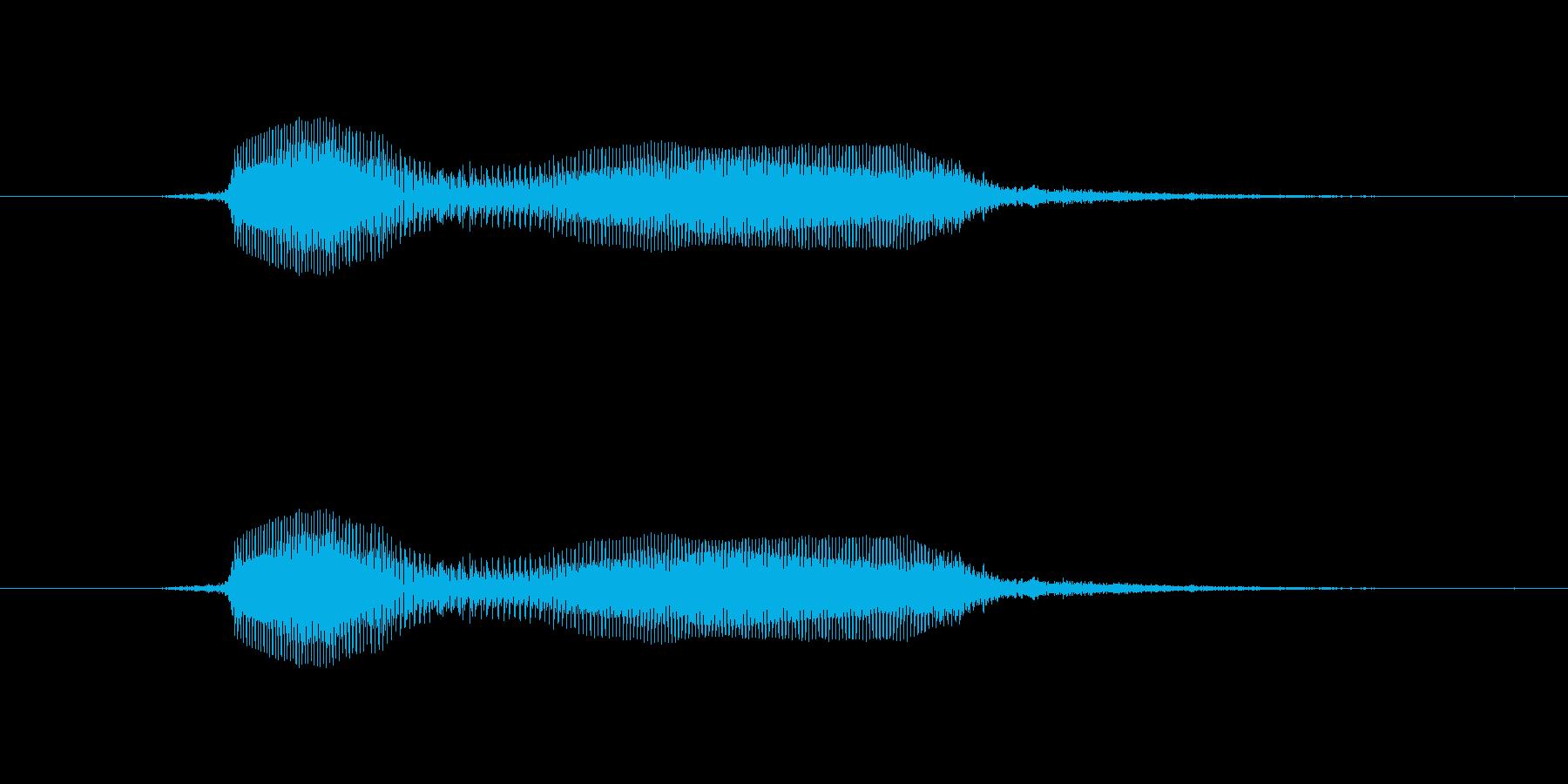鳴き声 失望した少年の声を求めて01の再生済みの波形