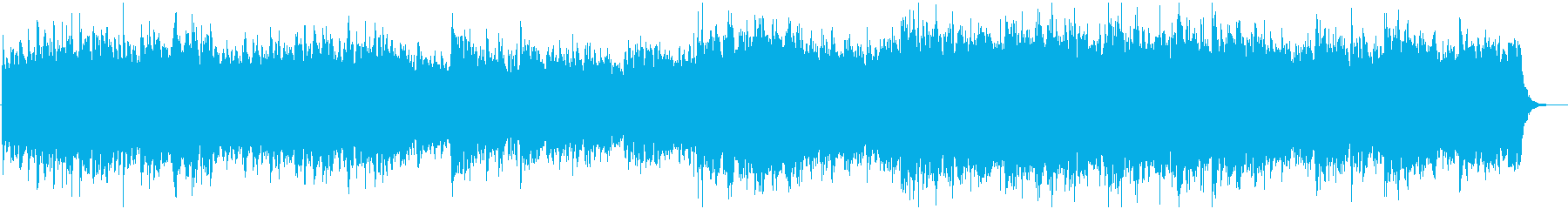 Warm, magnificent touching BGM's reproduced waveform