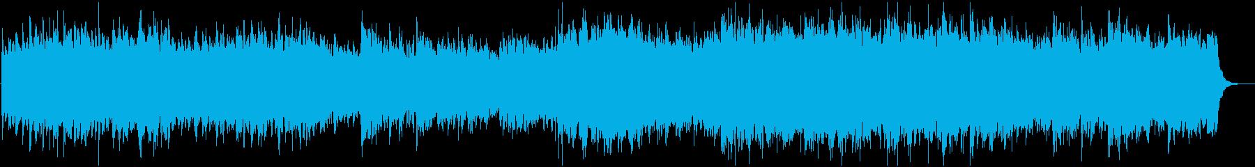 暖かみのある壮大な感動BGMの再生済みの波形