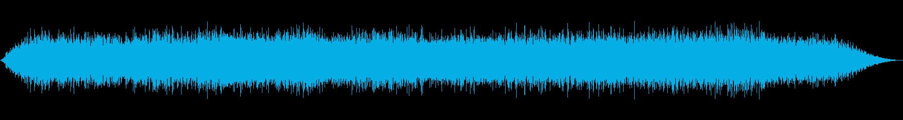 嵐-風と雨の再生済みの波形
