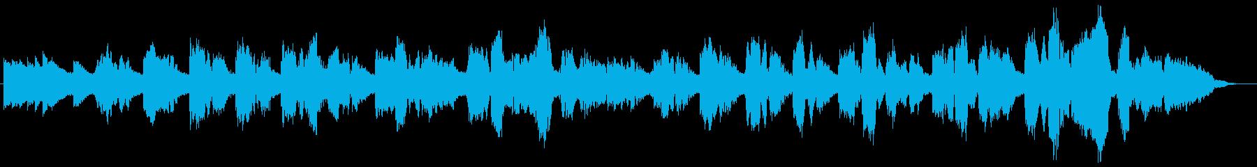 ソプラノコーラスによる清らかな歌声の再生済みの波形