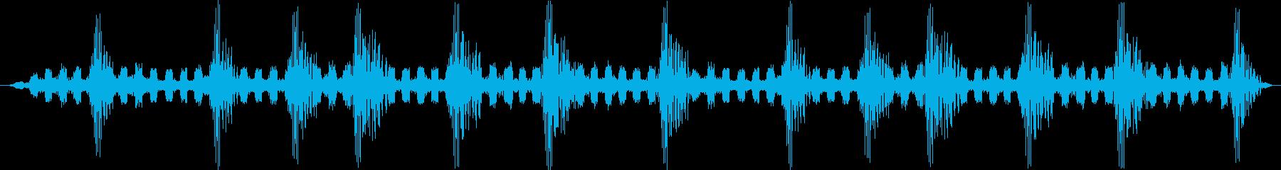 虫の声をステレオ録音したものですの再生済みの波形