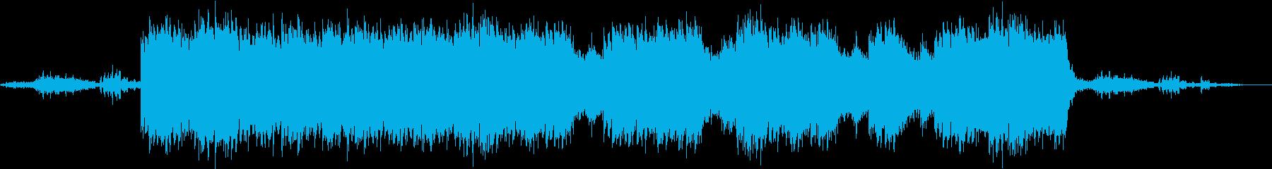 不気味な海底のサスペンスBGM(劇伴)の再生済みの波形