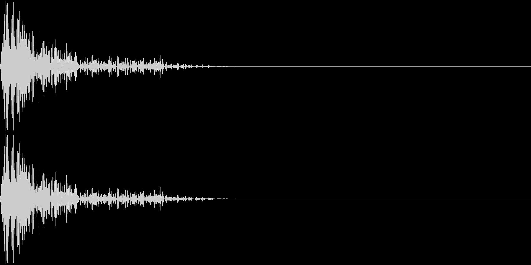 ブワンー(マイナス_ミス)の未再生の波形