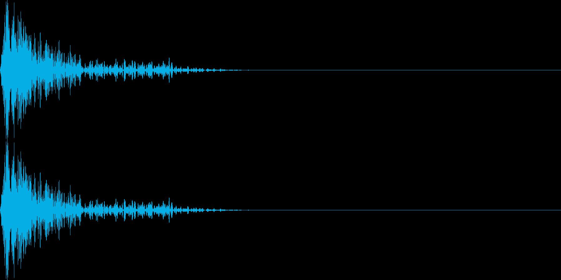 ブワンー(マイナス_ミス)の再生済みの波形