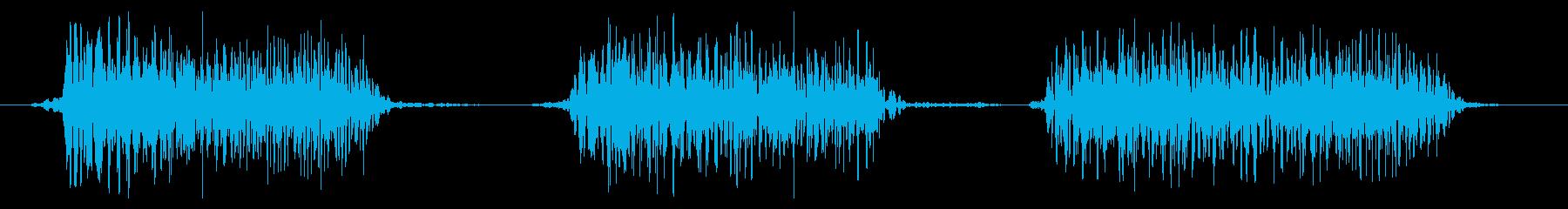 ゴリラ モンスター ゲーム 威嚇の再生済みの波形