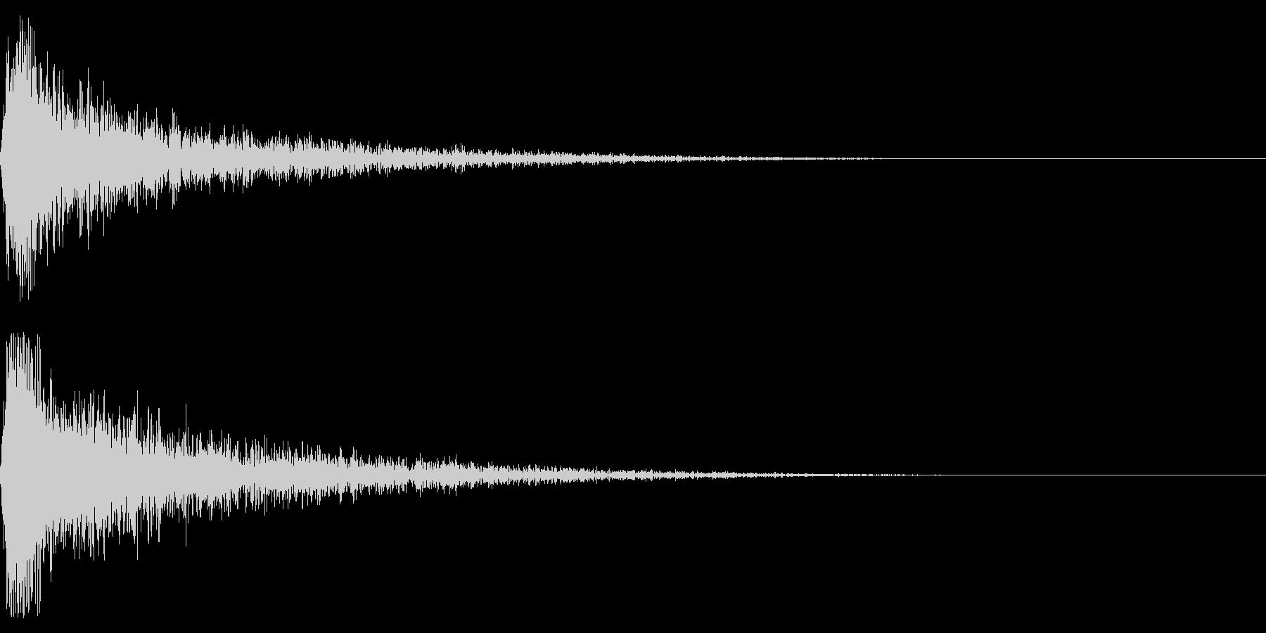 ドーン-55-1(インパクト音)の未再生の波形