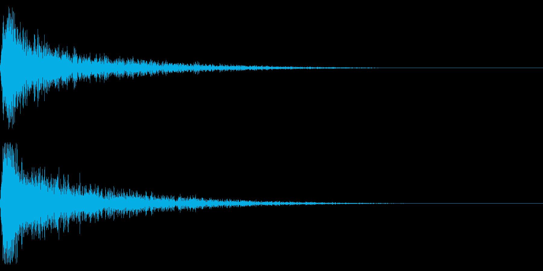 ドーン-55-1(インパクト音)の再生済みの波形