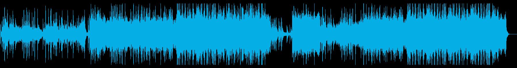 ピアノとストリングスの穏やかな曲。の再生済みの波形