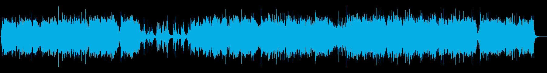 ゆったりしたテンポの弦楽とピアノの曲の再生済みの波形