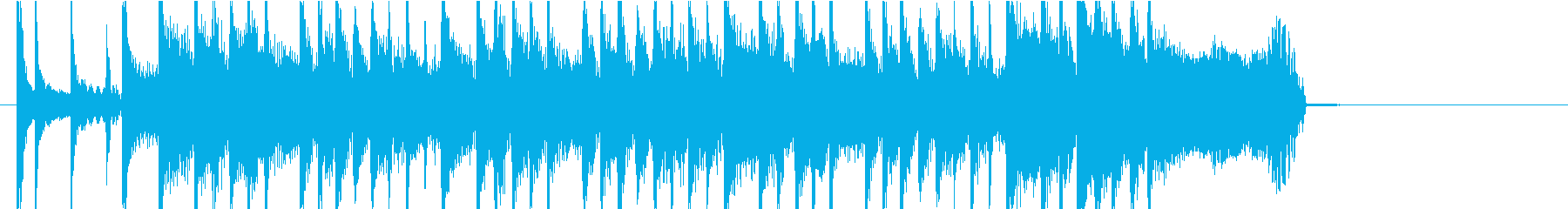 フレンチポップ風ジングルの再生済みの波形