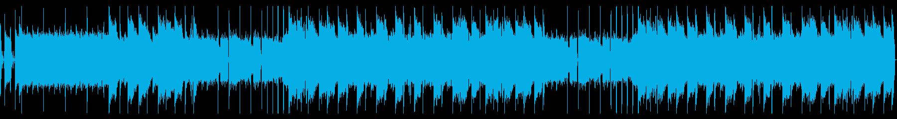 オールドスクールなヒップホップビーツの再生済みの波形