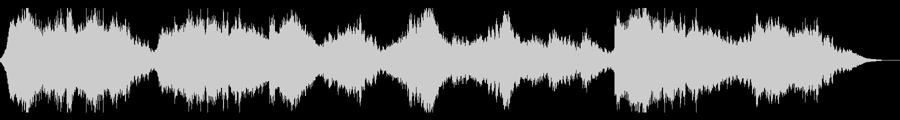 不気味なSF風サウンドスケープの未再生の波形