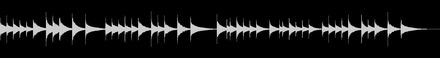 ドイツ民謡「池の雨」 オルゴールの未再生の波形