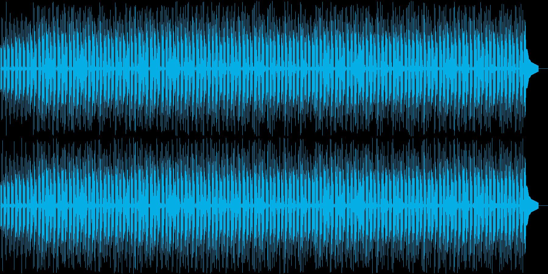 夏のビーチのようなウクレレのゆるい曲の再生済みの波形