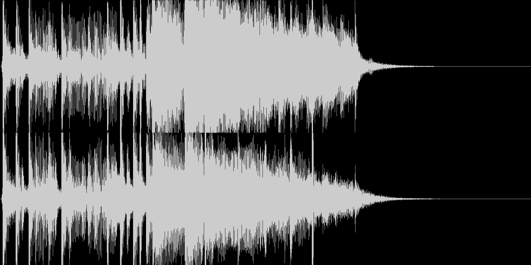 生ギターのトリルの未再生の波形