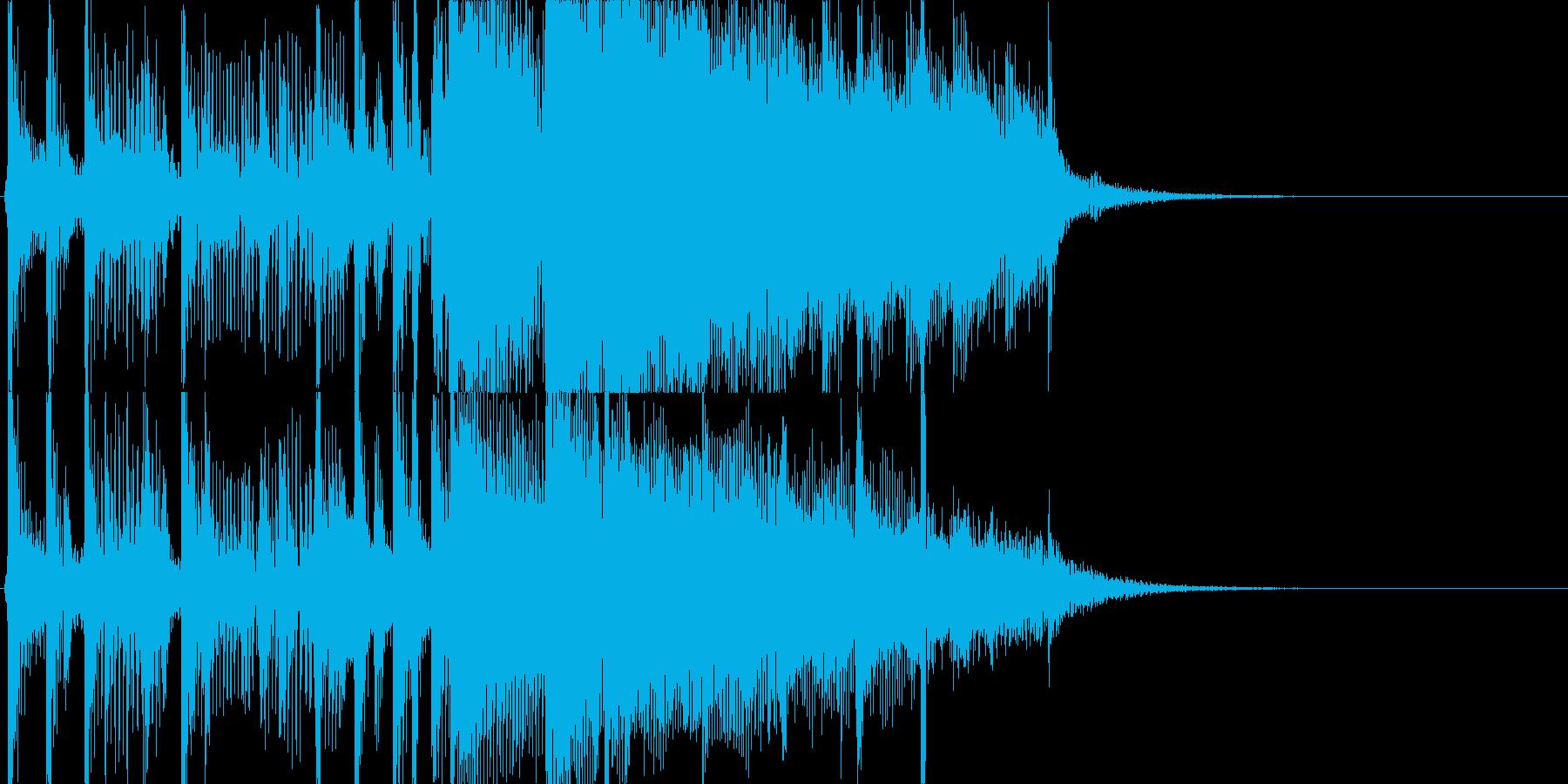 生ギターのトリルの再生済みの波形