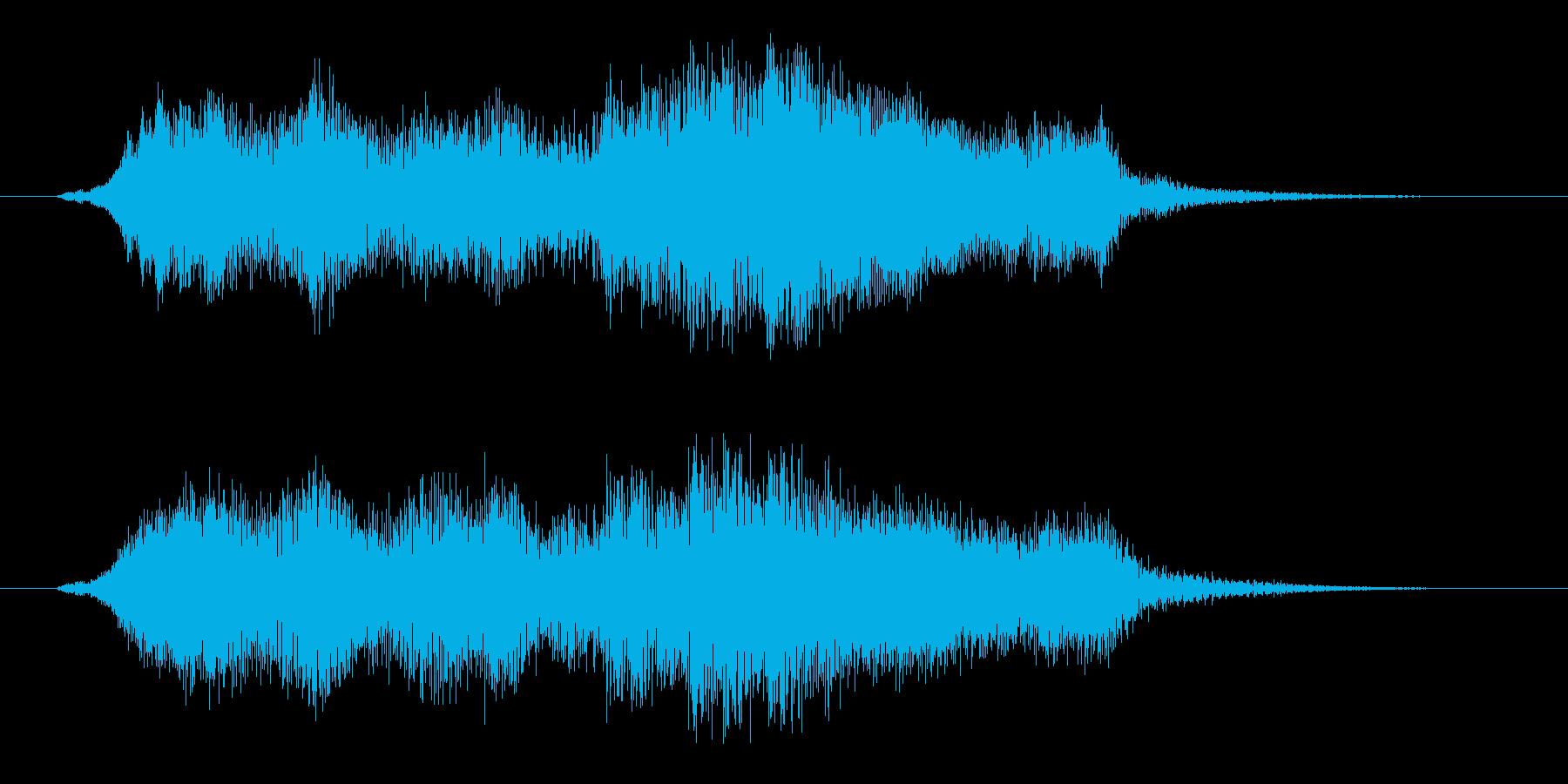 オーケストラのイントロ・タイトルジングルの再生済みの波形
