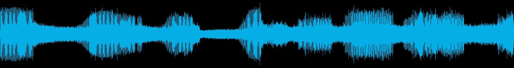 クマゼミの鳴き声(関東以南に多いセミ)の再生済みの波形