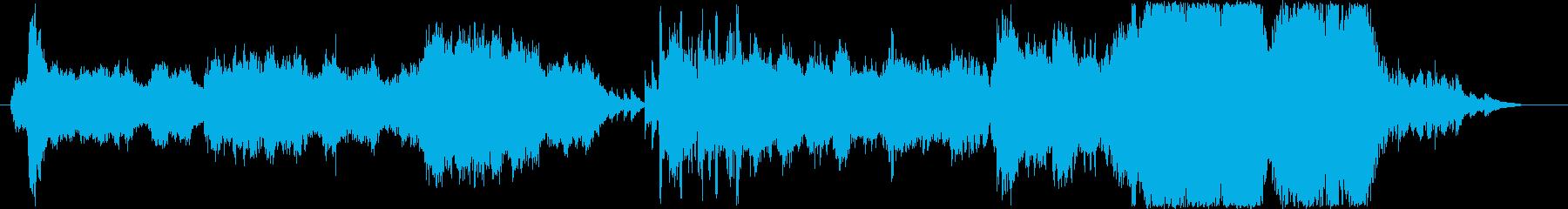 広々、のんびりとしたオケ曲の再生済みの波形