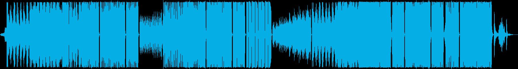 夏の終わりをイメージしたロックの再生済みの波形