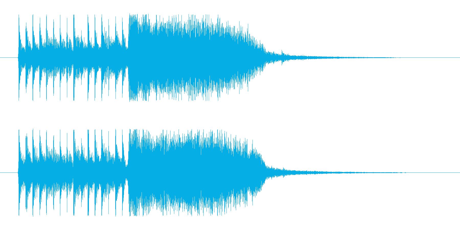 【やったぜ!1】の再生済みの波形