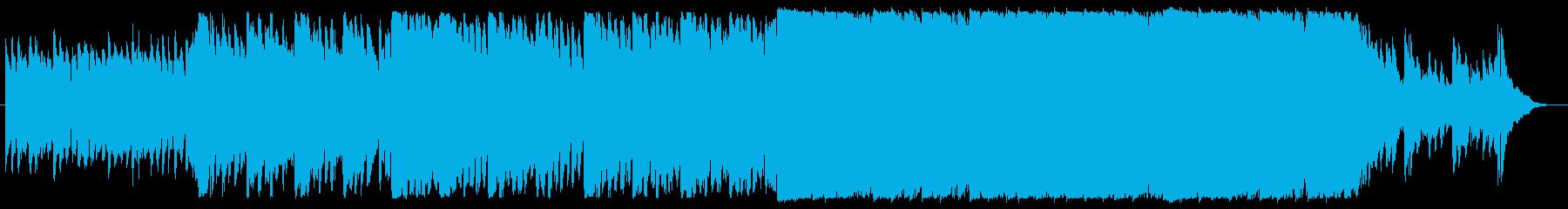 山の上を飛ぶ鳥を連想させる曲の再生済みの波形