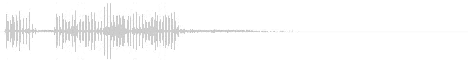 [ブブー] 不正解・エラー_矩Mix 2の未再生の波形