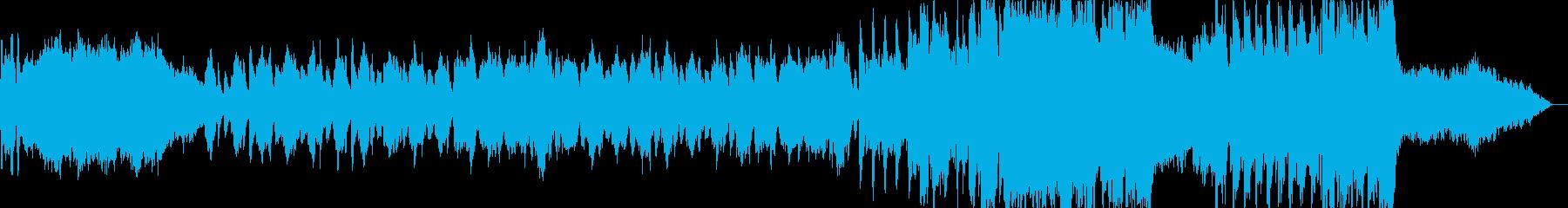 ハロウィンの怖い雰囲気のクラシック風の再生済みの波形