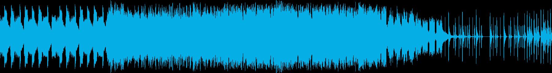 緊張感とぶっ壊れた感を出した警告的BGMの再生済みの波形