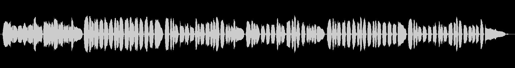 「むすんでひらいて」をヴァイオリンでの未再生の波形