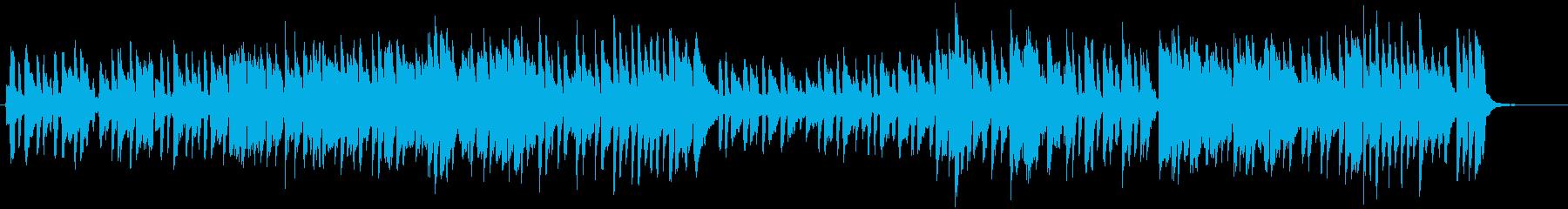 楽しげなピアノ曲の再生済みの波形