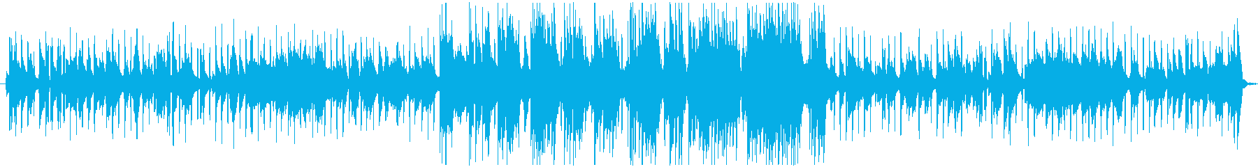 心地いいスタッカートのきいたピアノ曲の再生済みの波形