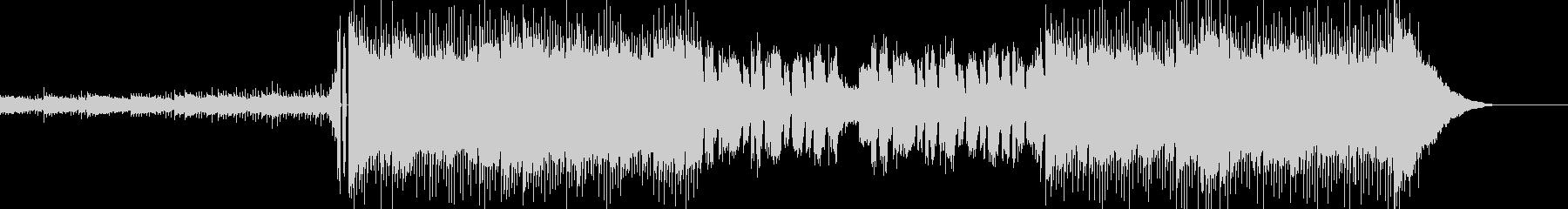 明るく重たい雰囲気のエレクトリックロックの未再生の波形
