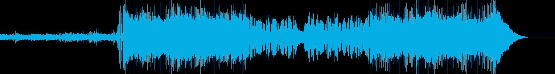 明るく重たい雰囲気のエレクトリックロックの再生済みの波形