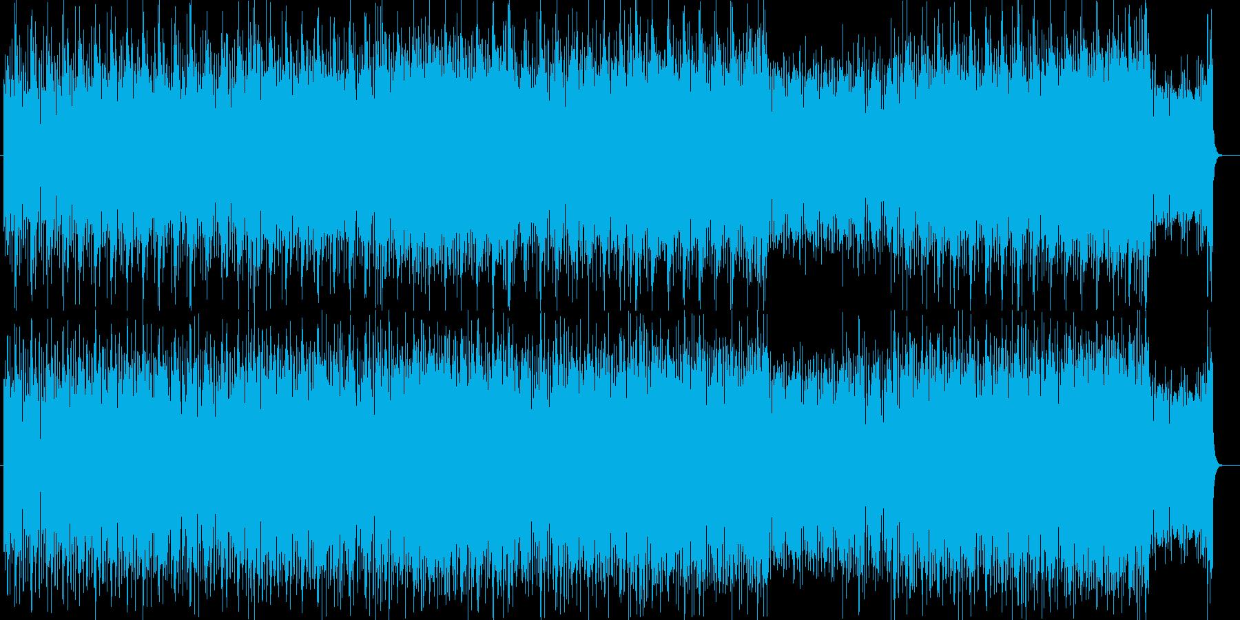 ロボットゲームを彷彿とさせるテクノポップの再生済みの波形