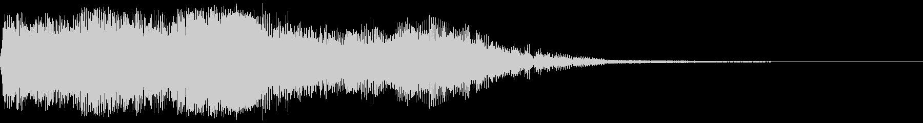 エピック映画のタイトルロゴに合うパッド音の未再生の波形