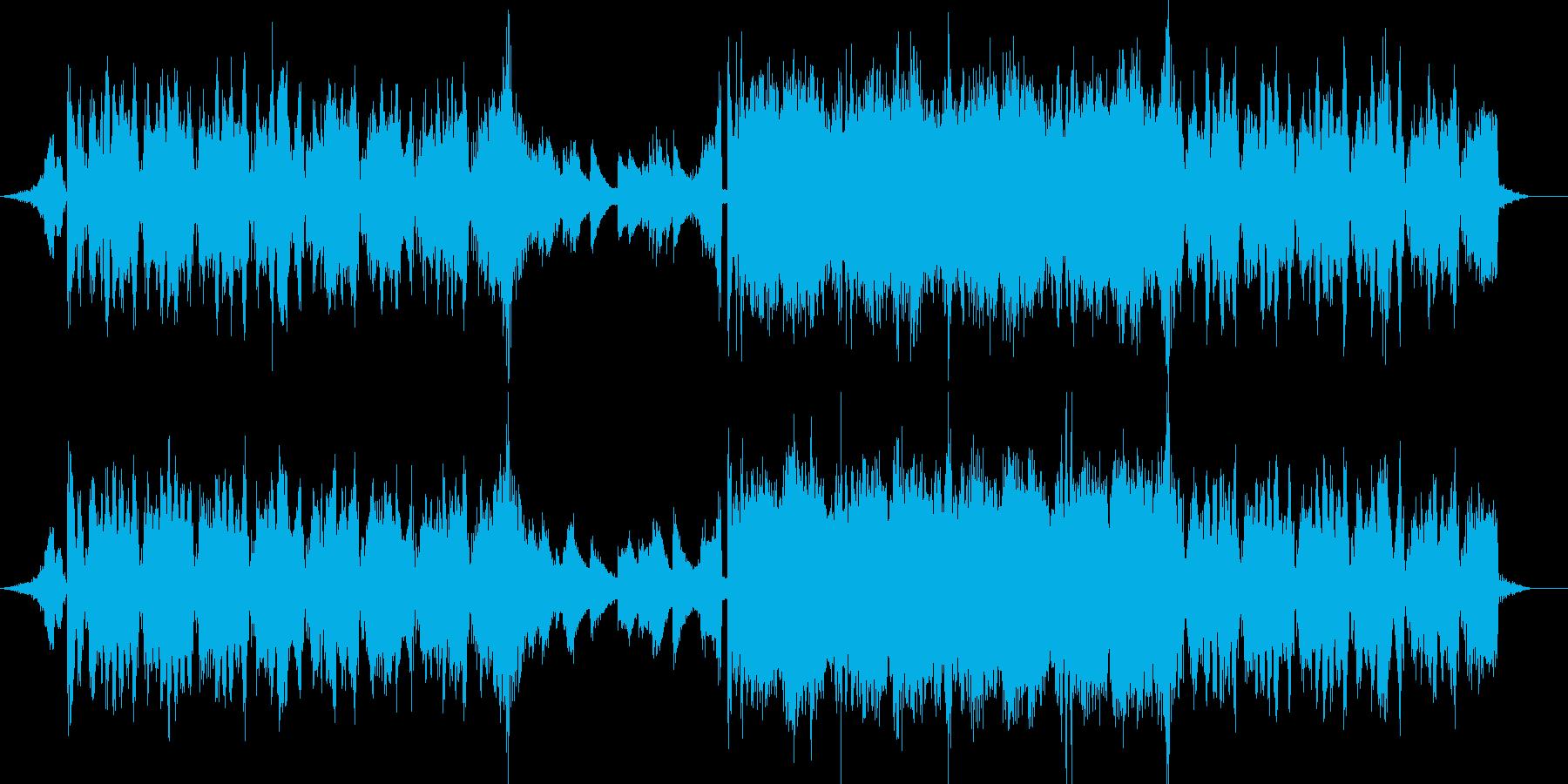 暗い雰囲気のEDMの再生済みの波形