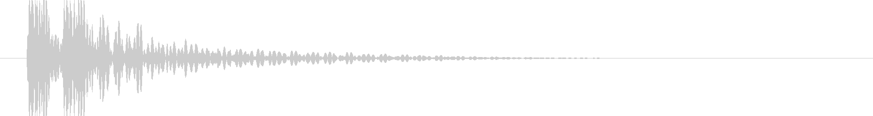 ドドン (桶胴太鼓をたたく音)の未再生の波形